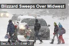 Blizzard Sweeps Over Midwest