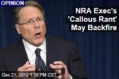 NRA Exec's 'Callous Rant' May Haunt It