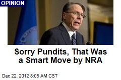 Sorry Pundits, That Was a Smart Move by NRA
