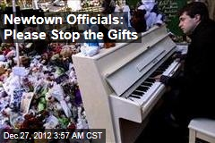 Newtown Officials: Please Stop the Gifts