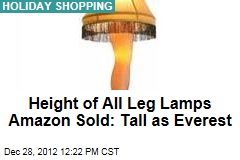 Height of All Leg Lamps Amazon Sold: Tall as Everest