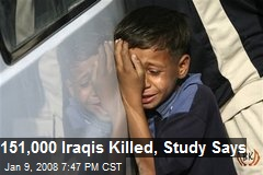 151,000 Iraqis Killed, Study Says