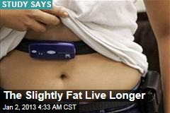 The Slightly Fat Live Longer