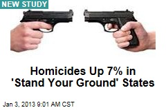 Homicides Up 7% in 'Stand Your Ground' States