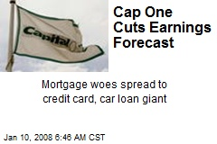 Cap One Cuts Earnings Forecast