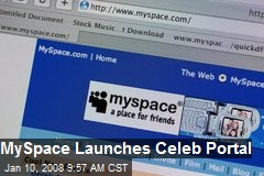 MySpace Launches Celeb Portal