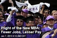 Plight of the New MBA: Fewer Jobs, Lesser Pay