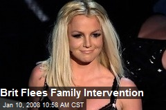Brit Flees Family Intervention