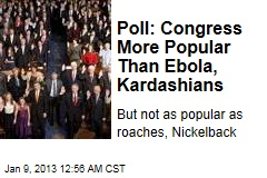 Poll: Congress More Popular Than Ebola, Kardashians
