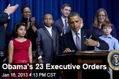 Obama's 23 Executive Orders