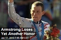 Armstrong Loses Yet Another Honor