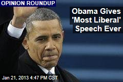 Obama Gives 'Most Liberal' Speech Ever