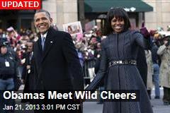 Obamas Join Inaugural Parade