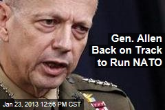 Gen. Allen Back on Track to Run NATO