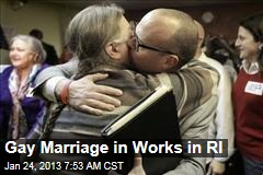 Gay Marriage in Works in RI