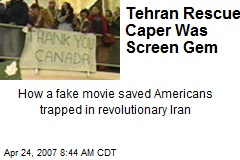 Tehran Rescue Caper Was Screen Gem