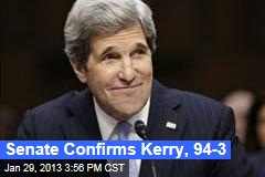 Senate Confirms Kerry, 94-3