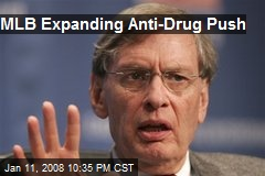 MLB Expanding Anti-Drug Push
