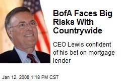 BofA Faces Big Risks With Countrywide