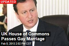 UK House of Commons Voting on Gay Marriage