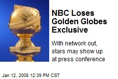 NBC Loses Golden Globes Exclusive