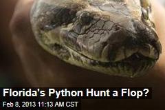 Florida's Python Hunt a Flop?