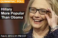 Hillary More Popular Than Obama