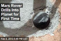 Mars Rover Drills Into Planet for First Time