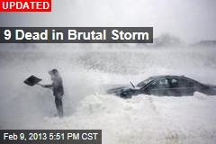 Storm Begins Belting Northeast