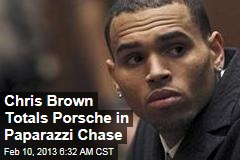Chris Brown Totals Porsche in Paparazzi Chase