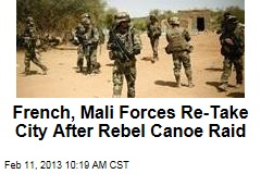 French, Mali Forces Re-Take City After Rebel Canoe Raid