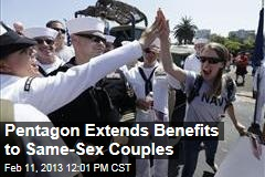 Pentagon Extends Benefits to Same-Sex Couples