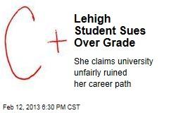 Lehigh Student Sues Over Grade