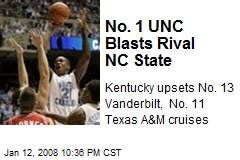 No. 1 UNC Blasts Rival NC State