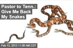 Pastor to Tenn.: Give Me Back My Snakes