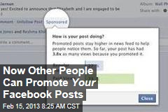 Now Other People Can Promote Your Facebook Posts
