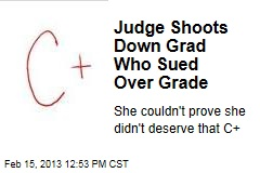 Judge Shoots Down Grad Who Sued Over Grade