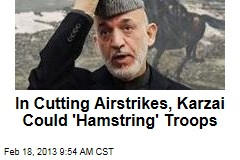 In Cutting Airstrikes, Karzai Could 'Hamstring' Troops