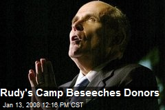 Rudy's Camp Beseeches Donors