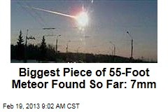 Biggest Piece of 55-Foot Meteor Found So Far: 7mm