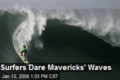Surfers Dare Mavericks' Waves