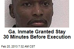 Ga. Inmate Granted Stay 30 Minutes Before Execution