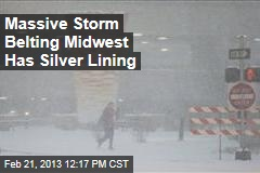 Massive Storm Belting Midwest Has Silver Lining