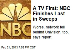 TV First: NBC Finishes Last in Sweeps