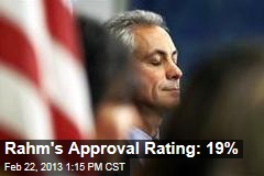 Rahm's Approval Rating: 19%
