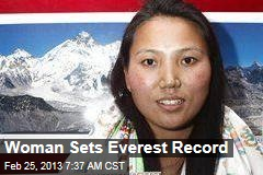 Woman Sets Everest Record