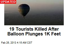 19 Tourists Killed in Egypt Balloon Crash