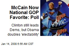 McCain Now National GOP Favorite: Poll