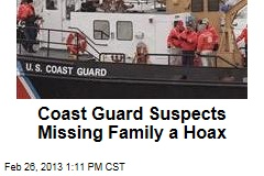 Coast Guard Suspects Missing Family a Hoax