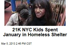 21K NYC Kids Spent January in Homeless Shelter